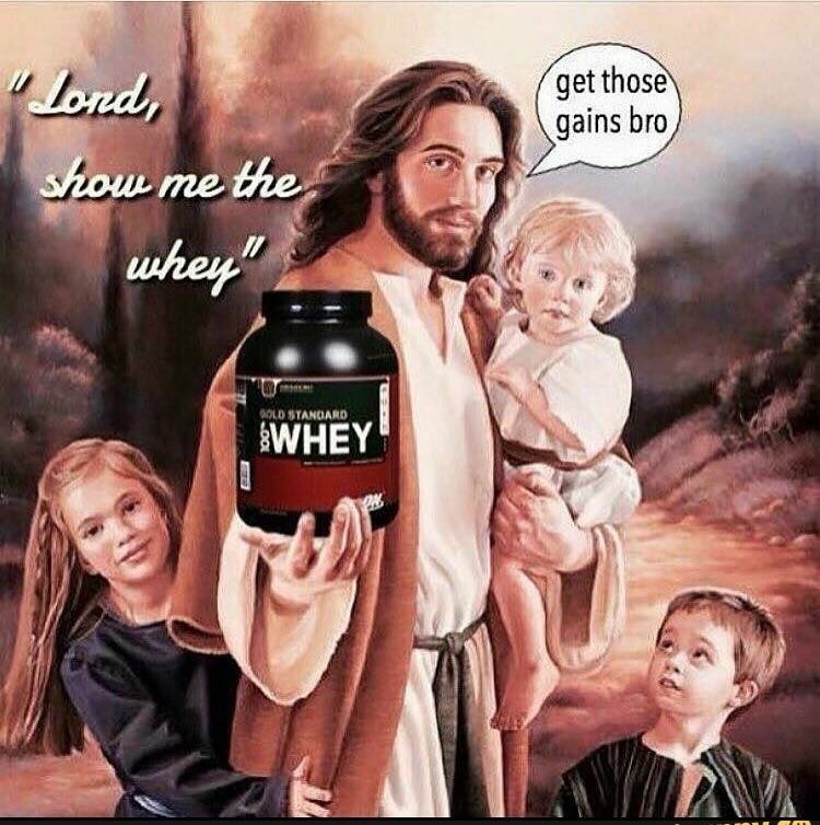 Jesus lifted for your sins - meme