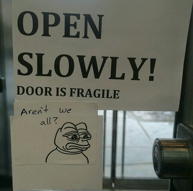 Aren't we all fragile - meme