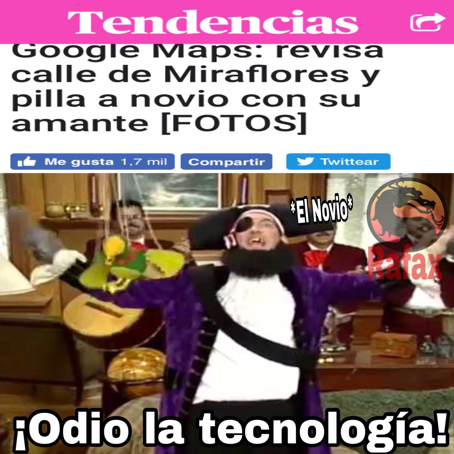 Ya no hay privacidad - meme