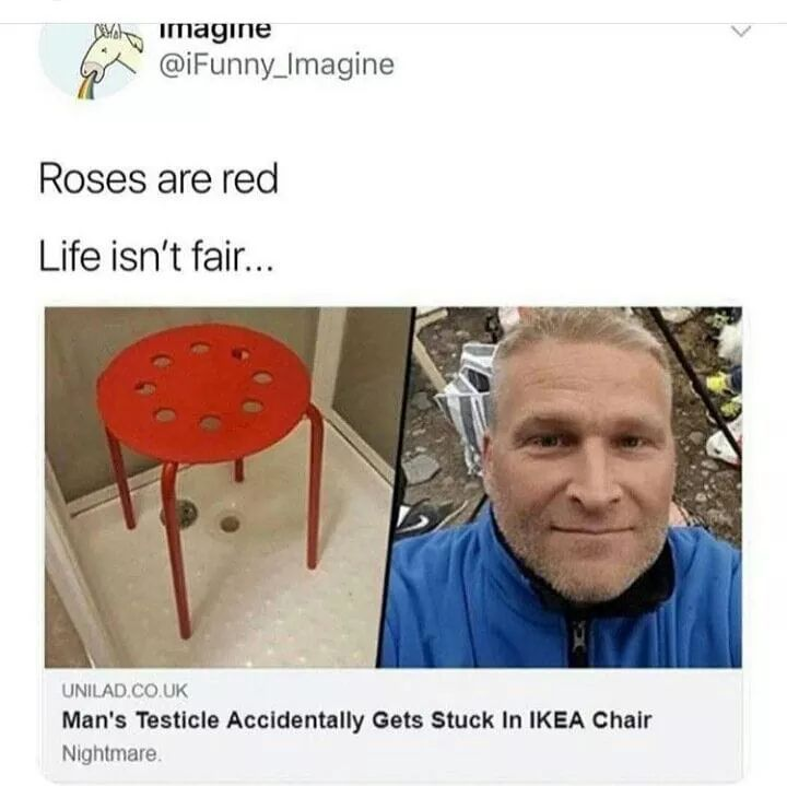 And the chair broke... - meme