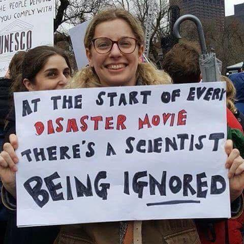 At the start of every disaster movie there's a scientist being ignored - meme