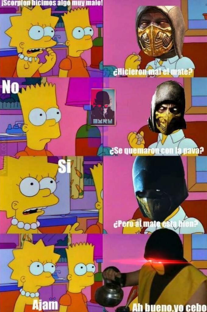 Ese scorpion es un loquillo - meme