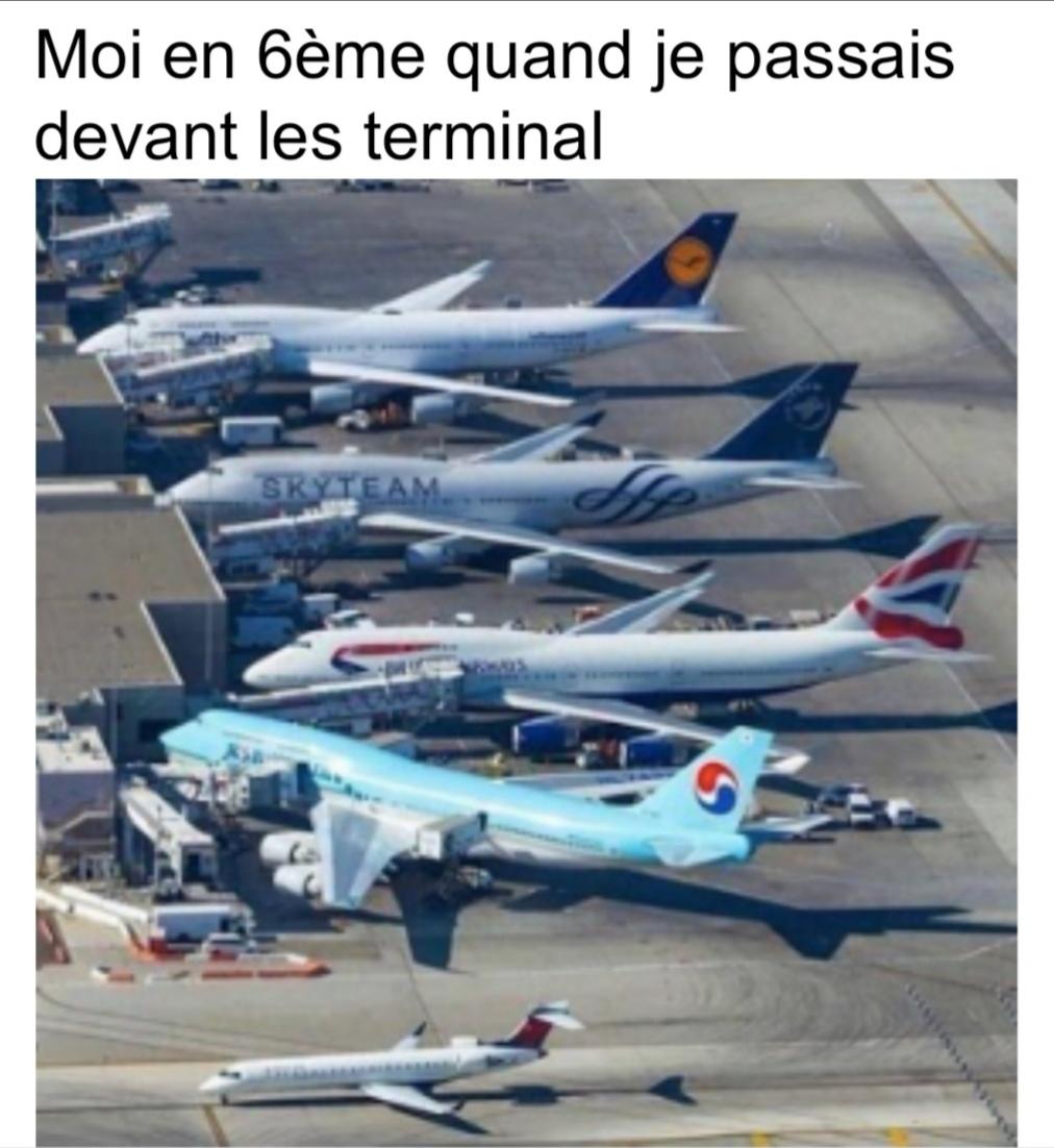 Les avions c'est beau - meme