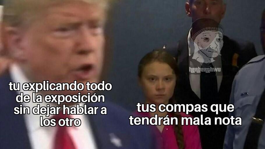 Exposición - meme