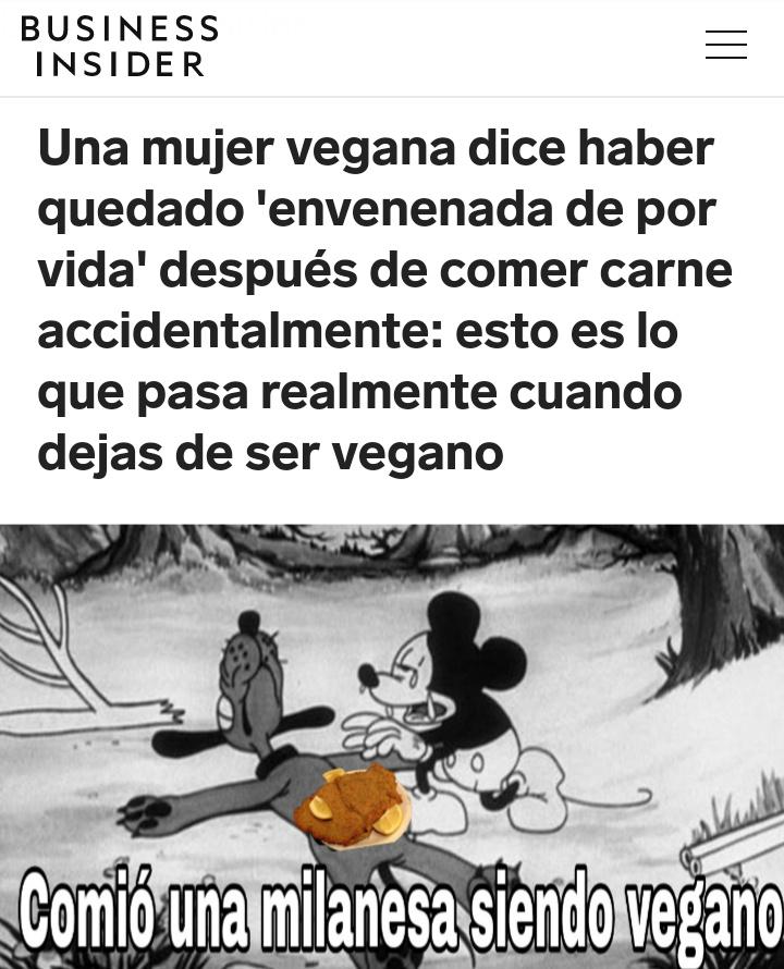 Vegano = Superheroe - meme
