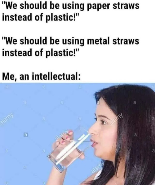 She had a straw in the nose - meme