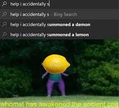 NOT THE LEMONS - meme