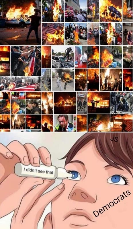 Mostly peacful protests - meme