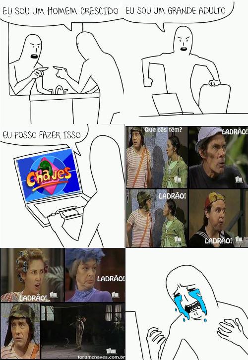 Pobre Chavinho - meme