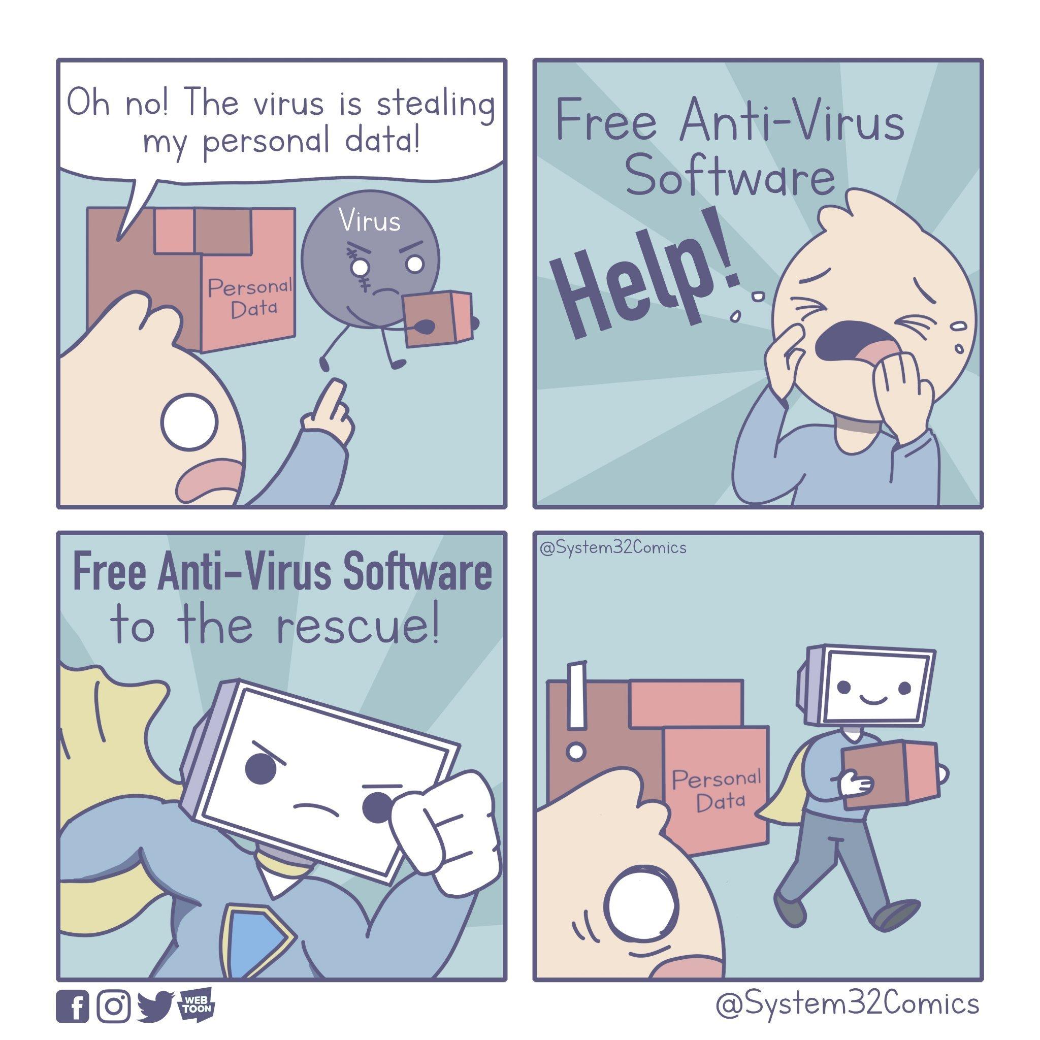 Free Anti-Virus Software - meme