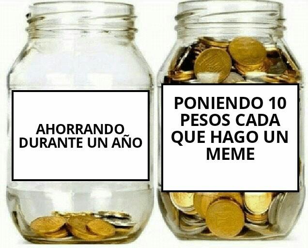 La mejor forma de ahorrar - meme