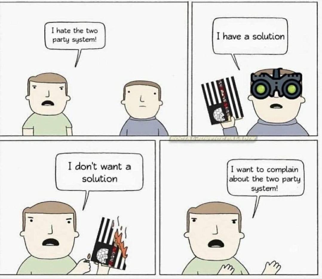 Complain > Doing something productive - meme