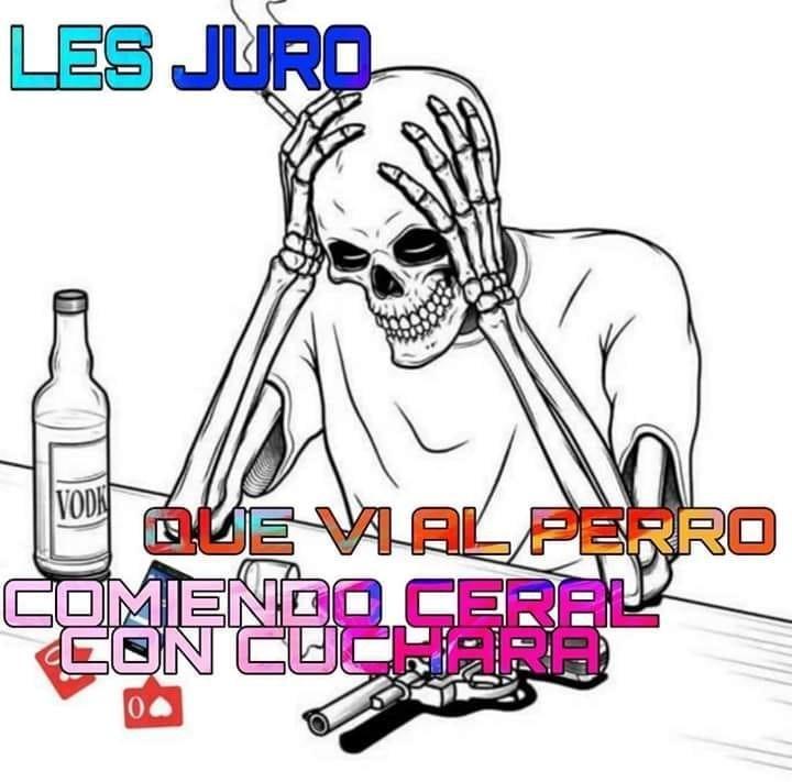 OTRO MEME. DEL PERRO Q. COME CEREAL CON CUCHARA B')