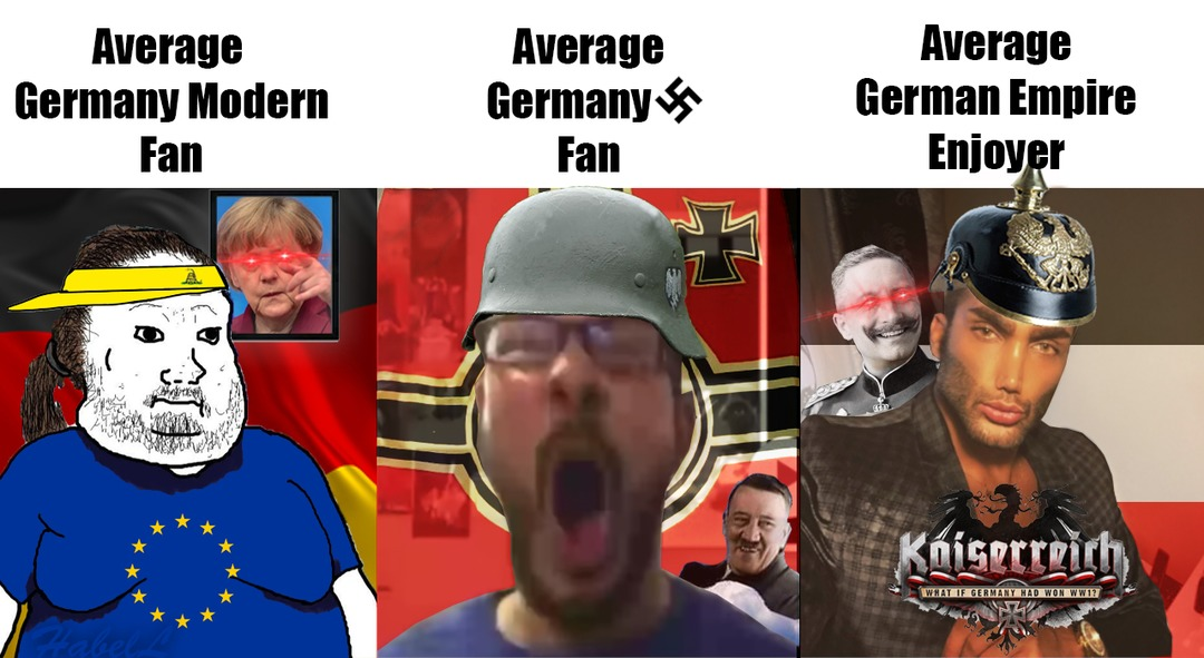 Solo pueden existir 3 tipos de Germanofilos... - meme