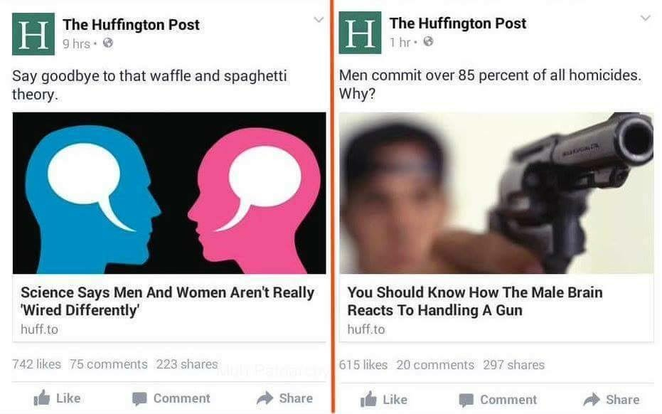 The Huffington post is garbage - meme