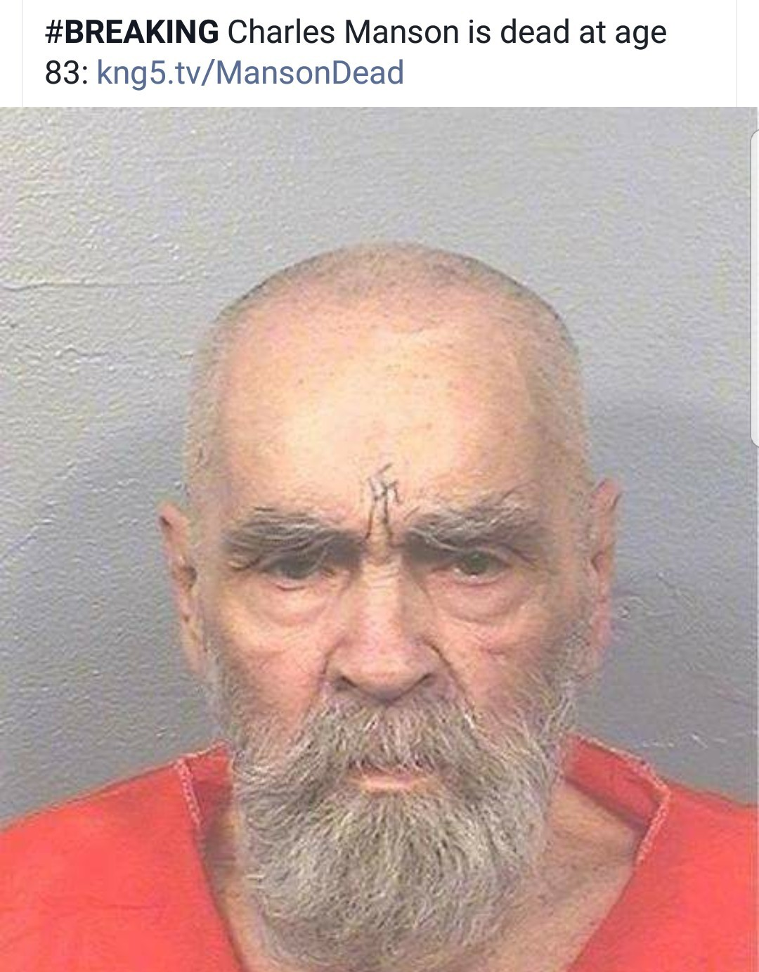 Died in Bakersfield, CA. Bakersfield is so bad, even Manson died there... - meme