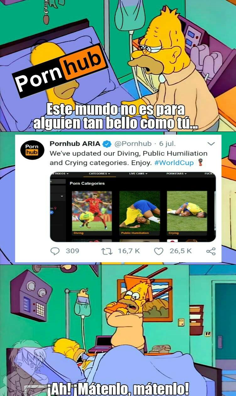 Maldito neymar, ha arruinado el porno! - meme