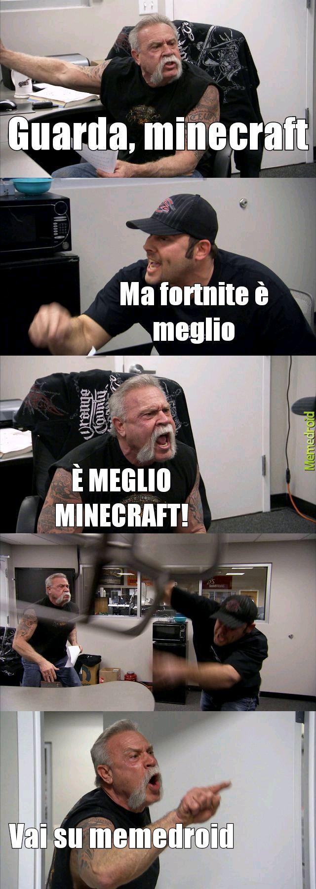 Minecraft e.... Lo sapete - meme