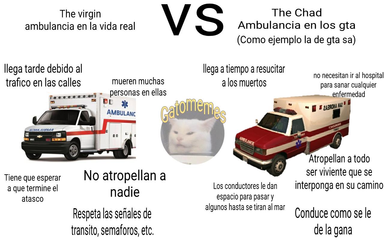 Unos kpos las ambulancias de los gta - meme