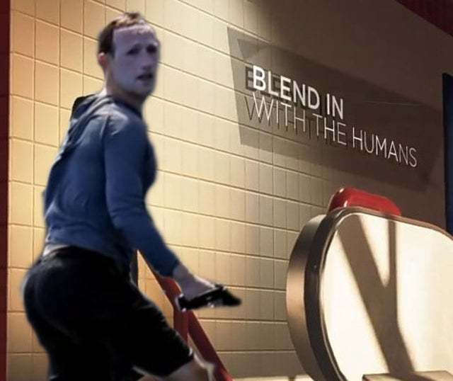 Blend in with the humans - meme