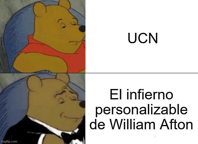 Contexto: Hay una teoría que dice que la UCN es realmente un infierno para William después de pizzeria simulator - meme