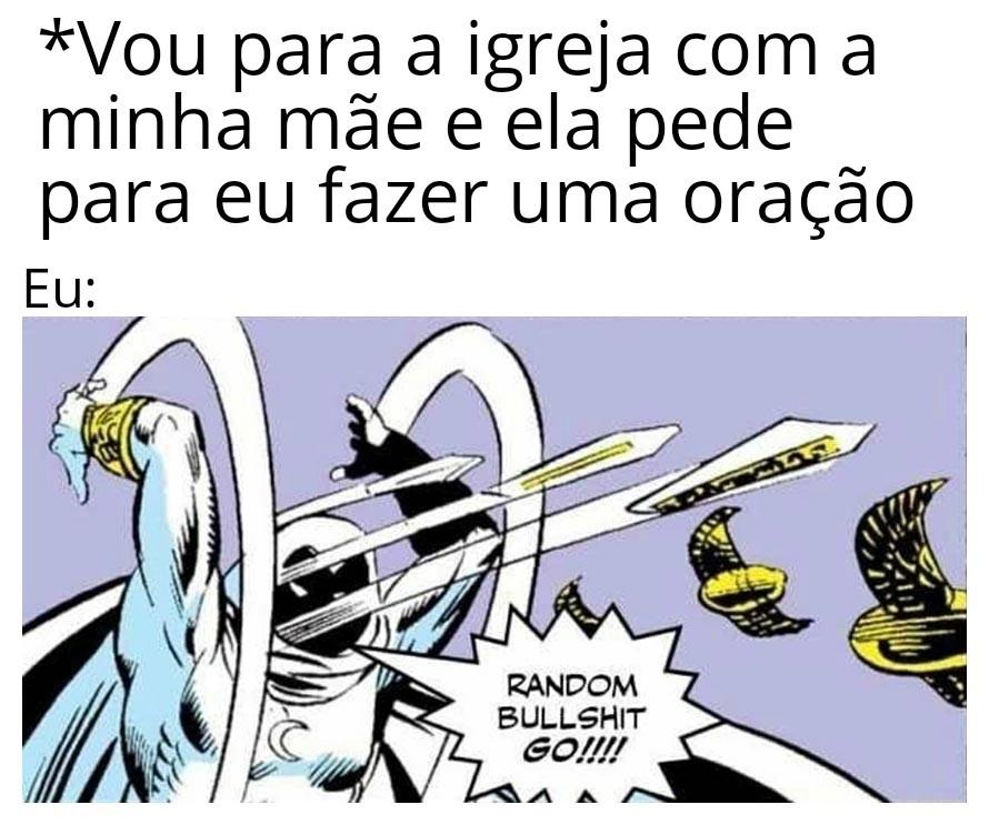 """Baboseira aleatória, vá!"" - meme"