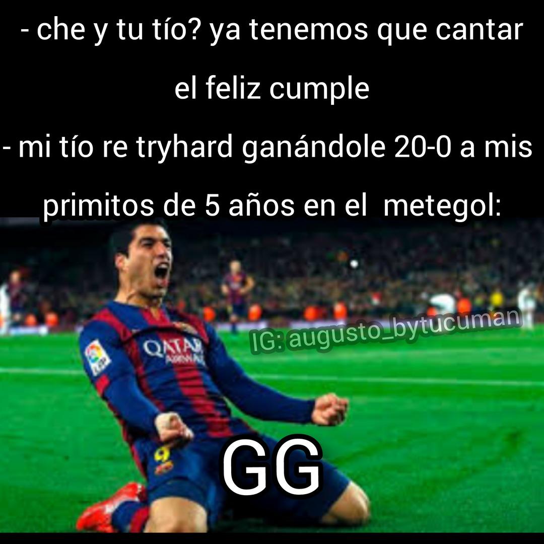 Metegol = futbolín - meme