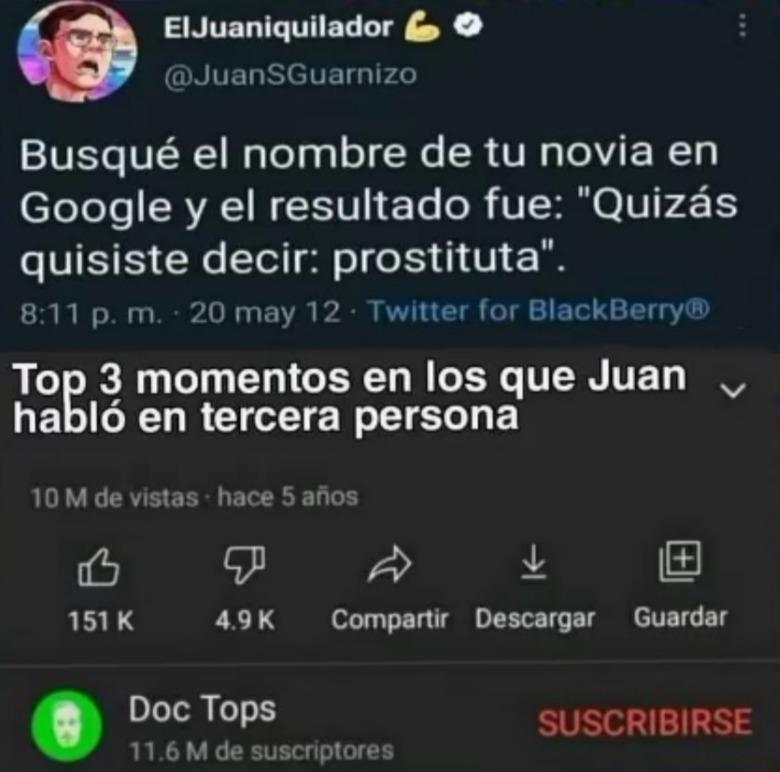 Buena hipocresía Juan - meme