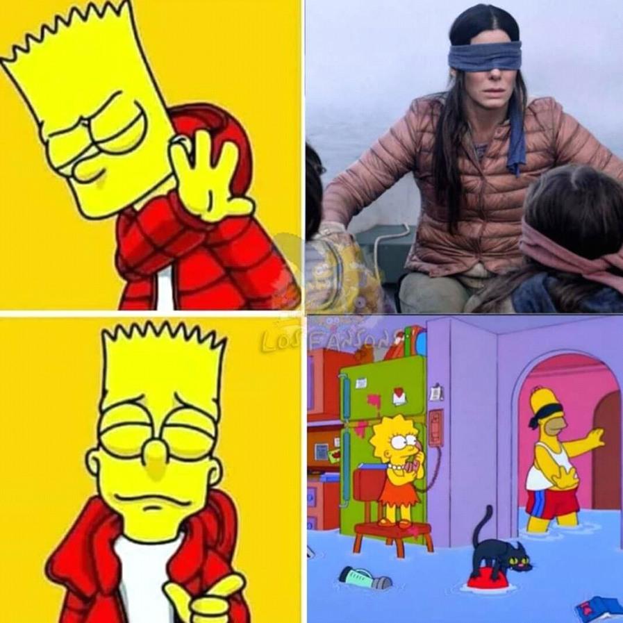 Los Simpson siempre un paso adelante - meme