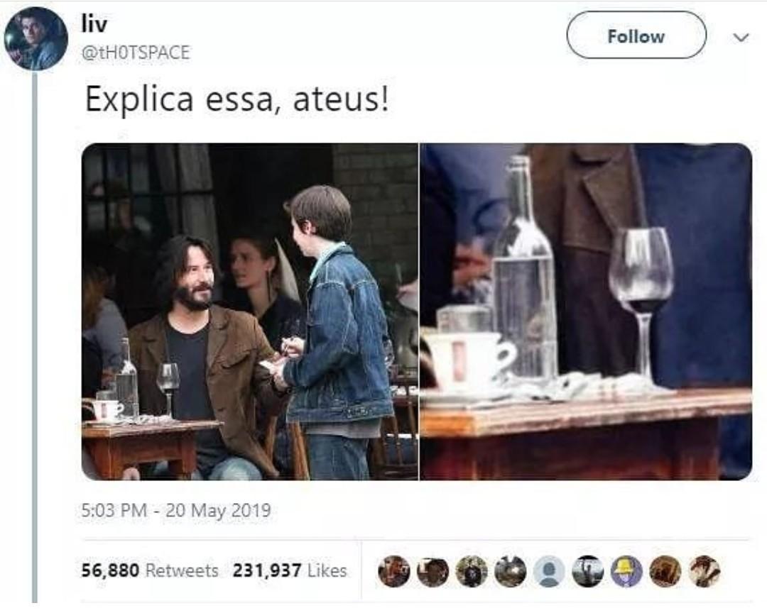 Keanu Reeves é Jesus e eu posso provar - meme