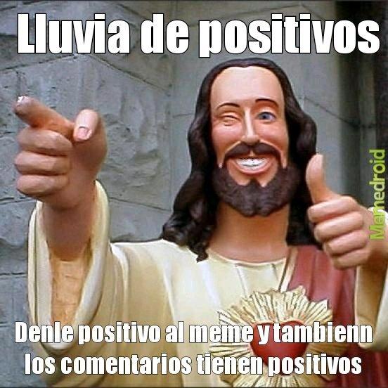 Lluvia de positivos - meme