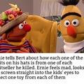 Ernie prepares to commit a hate crime