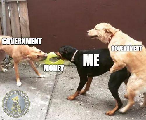 All hail the mighty IRS doggo - meme