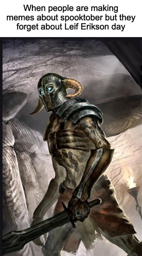 Contrary to popular belief, scandinavian vikings did not always wear spiky helmets - meme
