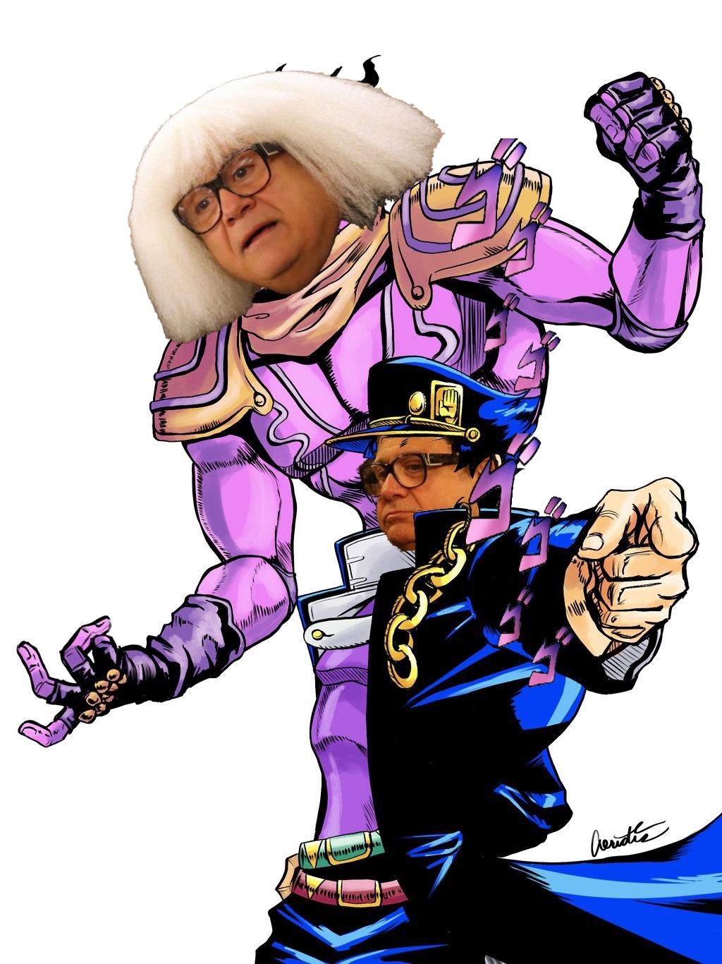 It is I Danny Devito with my stand Devito Platinum - meme