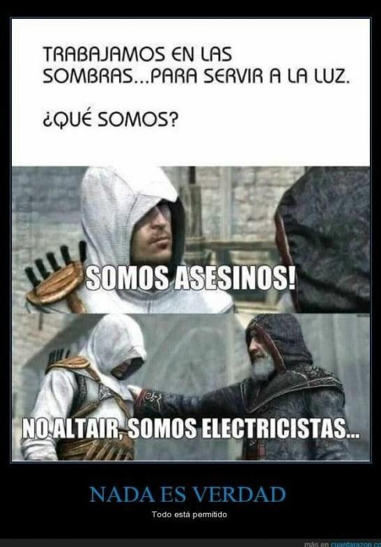 Somos electricistas - meme