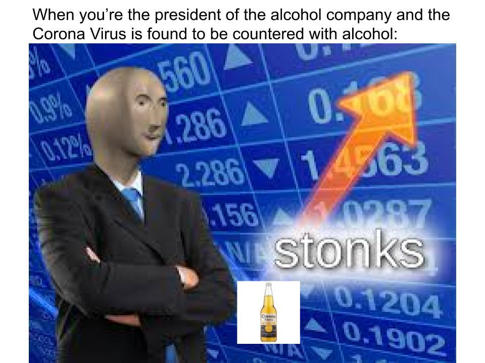 Alcohol Stonks - meme