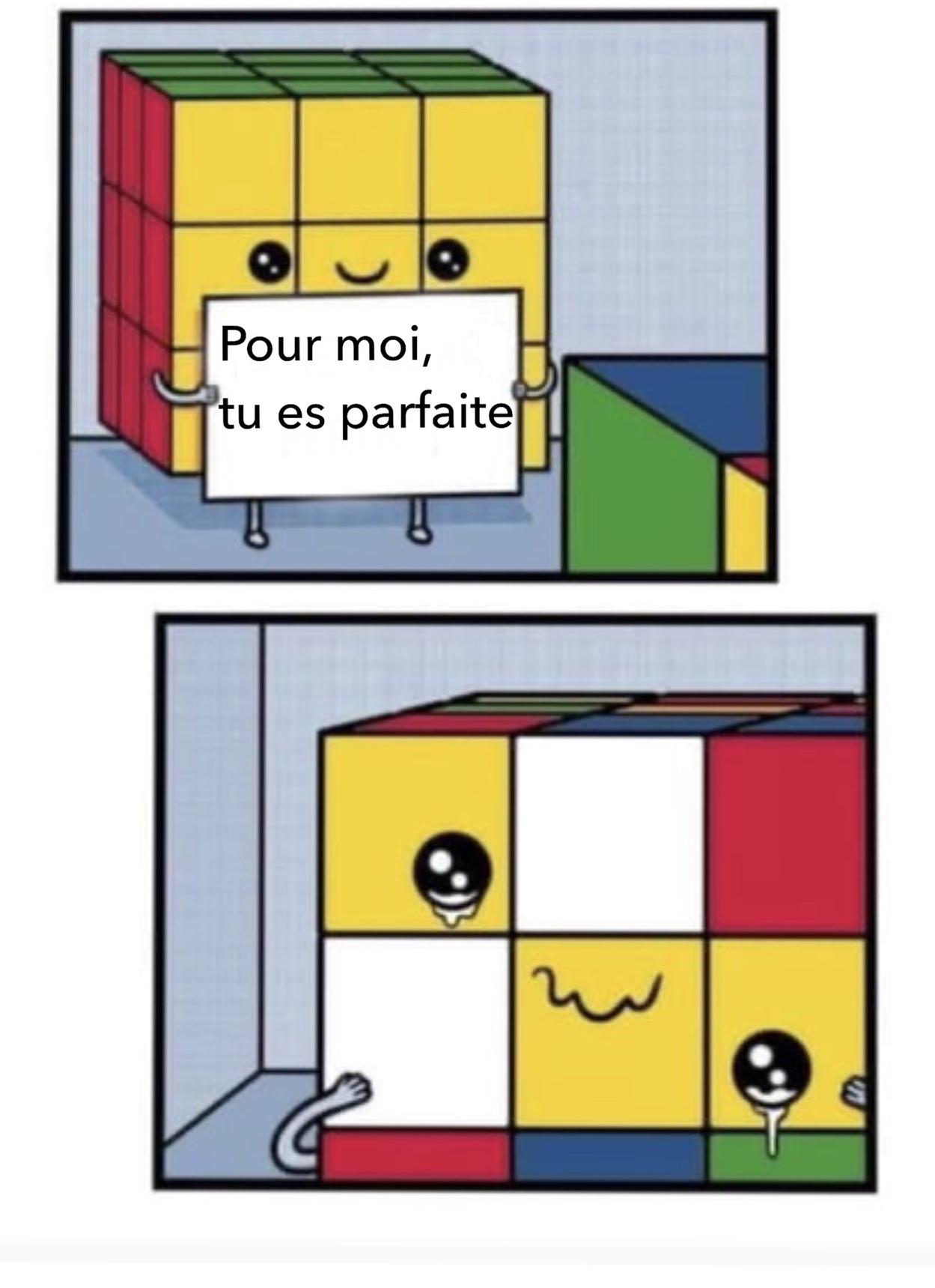 J'ai jamais fini un rubix'cube - meme