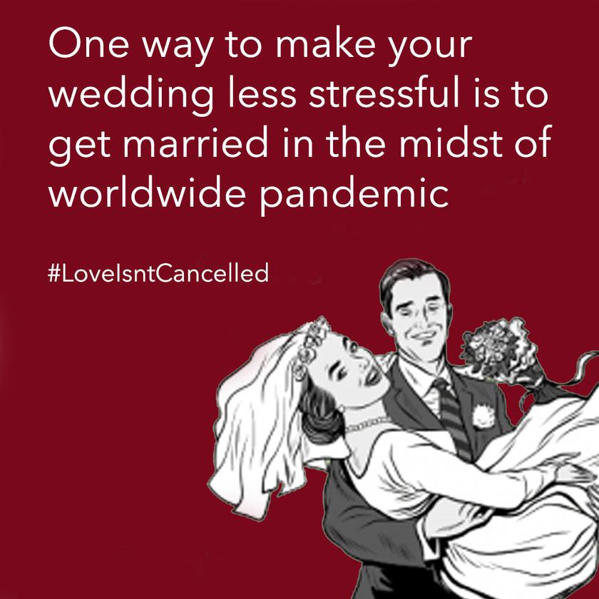 Pandemic Wedding - meme
