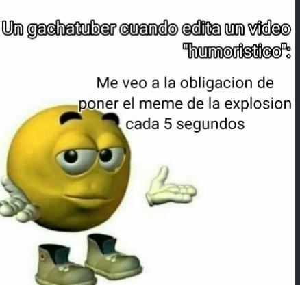 """Todos los videos """"humoristicos"""" de gacha life: [Insertar triggered,explosion,y el gif de estatica] - meme"""