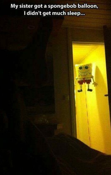 Who lives in the hallway and watches you pee... - meme