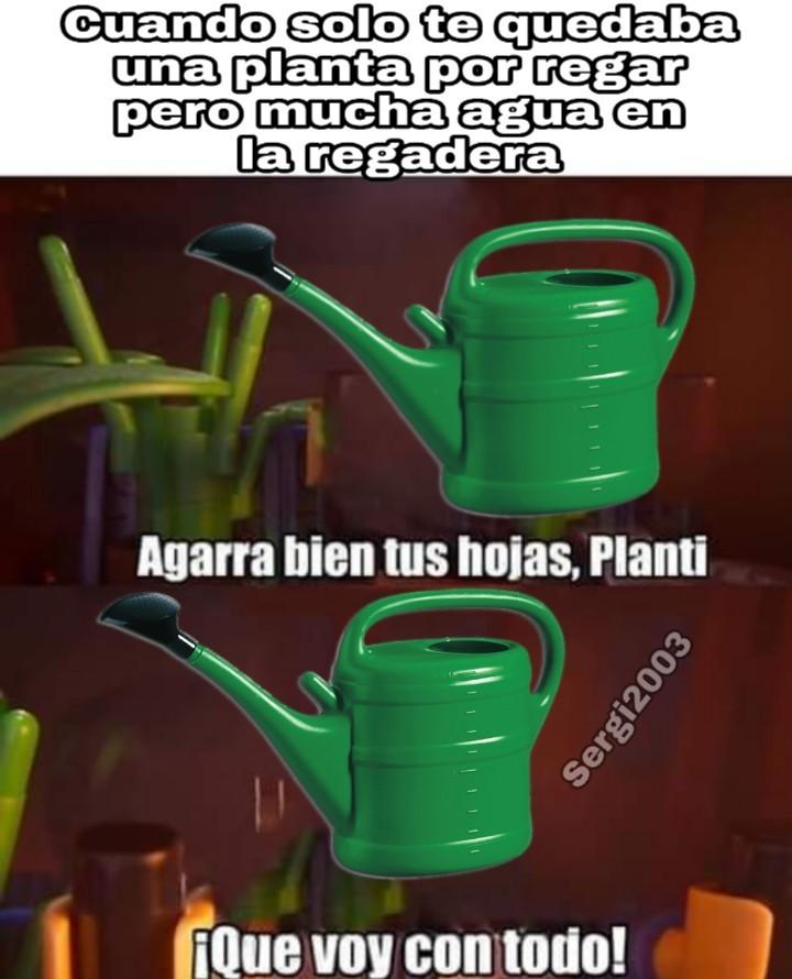 Si no te paso nunca regaste las plantas - meme