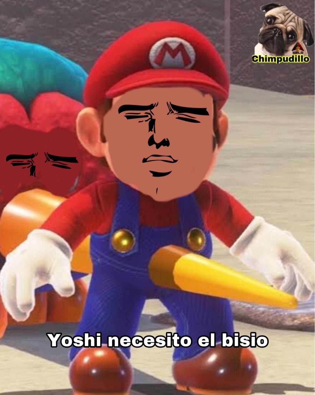 YOshi necesito el bisio - meme
