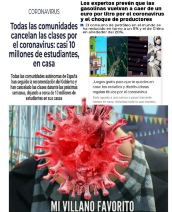 El título tiene el coronavirus - meme