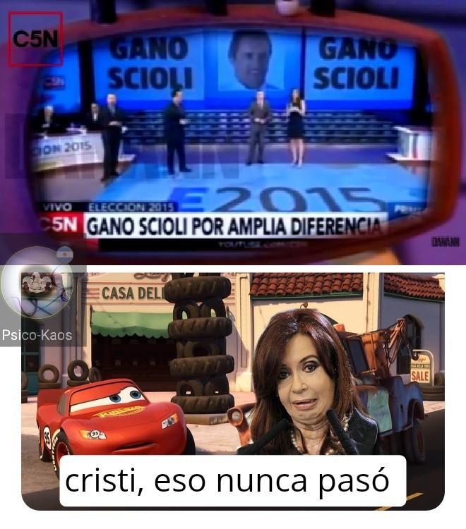 Ganó scioli una escusa más para salir de Latinoamérica - meme