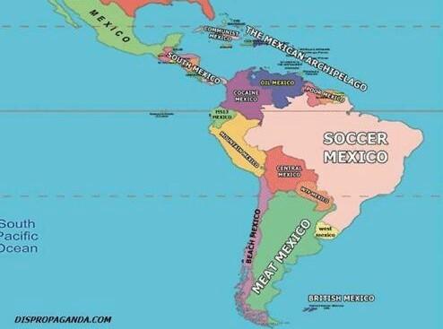 latino america segun estadounidenses - meme