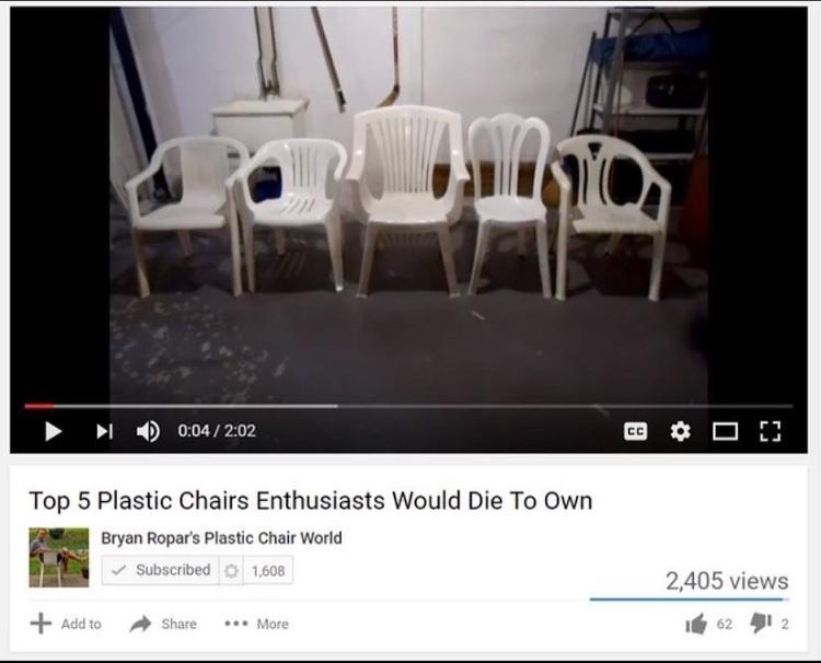 plastic chair enthusiast - meme