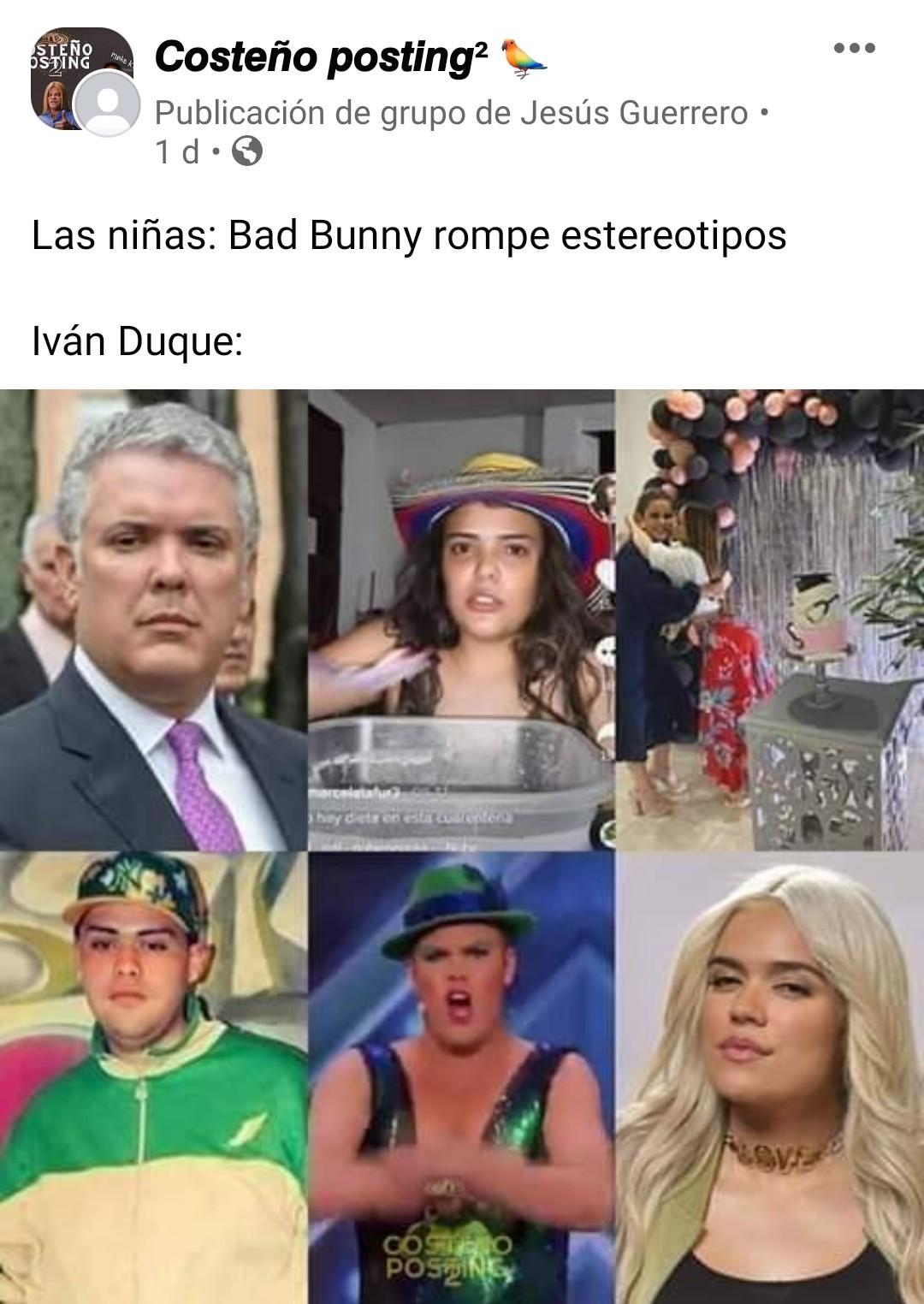Contexto:Ivan duque es el presidente de colombia - meme