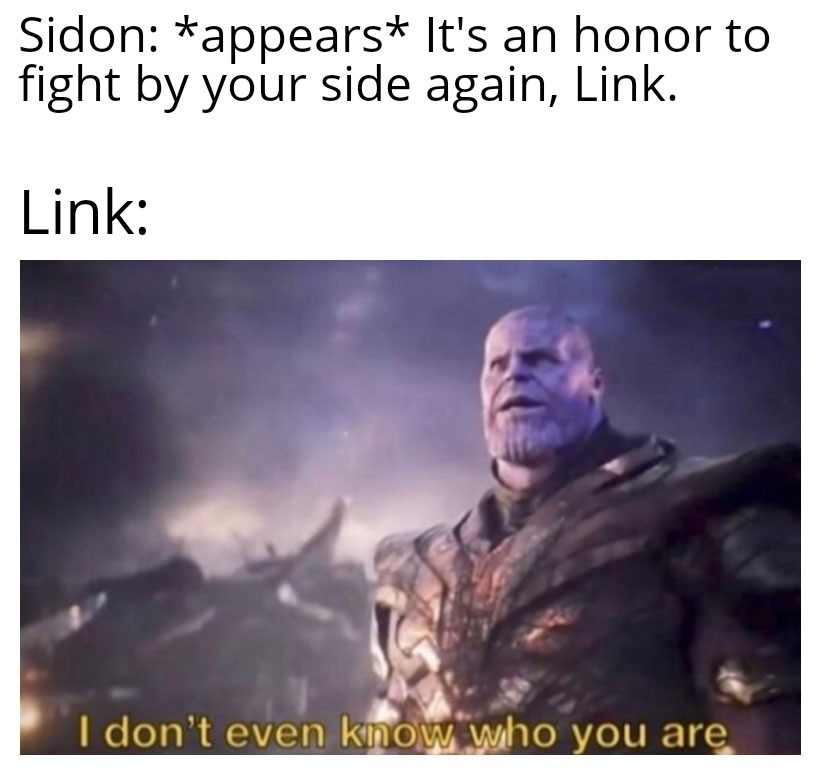 If Link could talk - meme