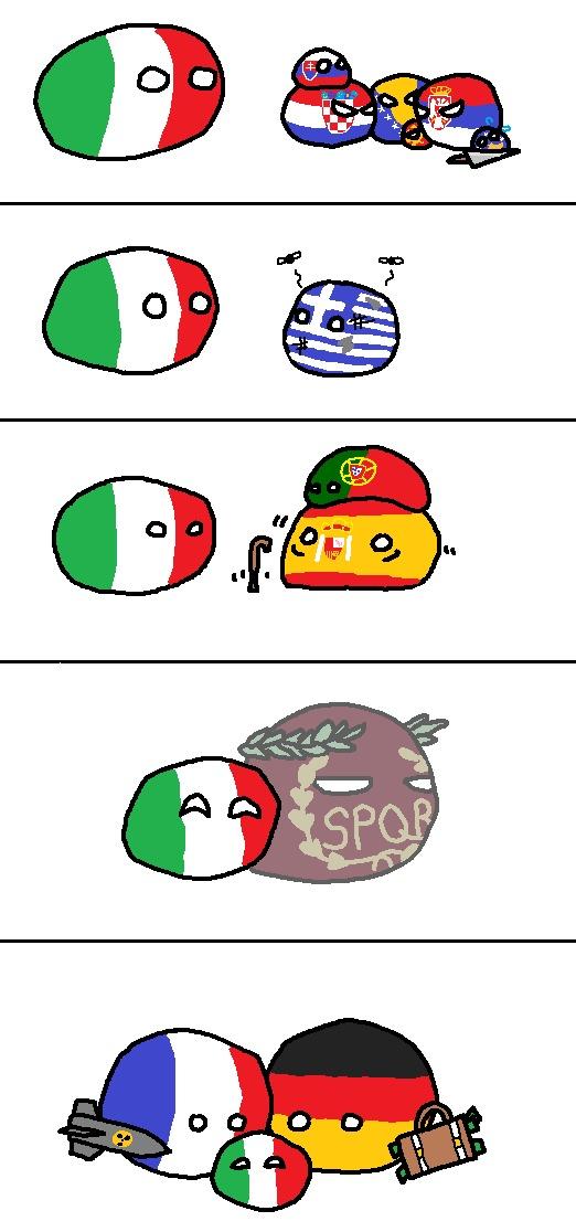 Les vacances de l'Italie - meme